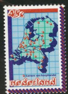 Netherlands Scott 589 MNH** 1979 Map stamp