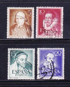 Spain 772-774 Set U Famous People