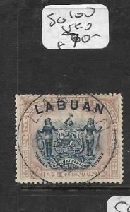 LABUAN (P2603B)  ARMS LION 24C  SG 100 SON CDS VFU
