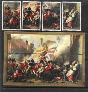 Jersey #242-245a  Battle of Jersey   (MNH) set complete + S/S CV $1.75