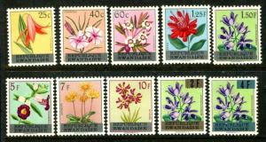 Rwanda 13-22, MNH,  Flowers Littonia. 1963. x12311