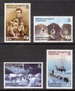 BRITISH ANTARCTIC 2005 Shackleton's Dogs; Scott 361-64, SG 407-10; MNH