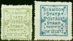 Sirmoor 1878-80 Set of 2 SG1-2 Fine Mtd Mint