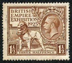 SG433 KGV 1925 1 1/2d 1925 British Empire Used