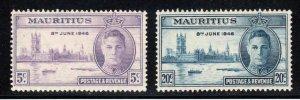 Mauritius # 223-24 ~ Cplt Set of 2 ~ Unused, LHM
