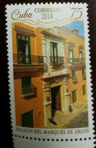 O) 2018  SPANISH ANTILLES, MARQUES DE ARCOS PALACE-ARCHITECTURE, MNH