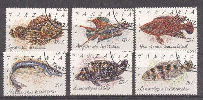 Tanzania 1991 Fishes, used    M.078