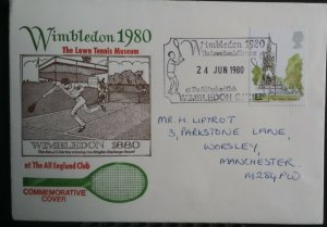 GB 1980 Wimbledon Lawn Tennis Museum Commemorative Cover All England Club SHS