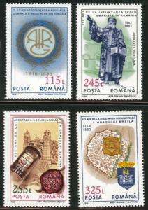 ROMANIA Scott 3870-3 MNH** set 1993