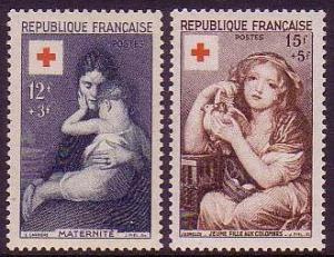 France Red Cross 2v SG#1232-1233 MI#1032-1033