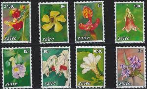 Zaire SC1146-1153 Local Flowers MNH 1984
