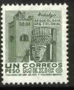 MEXICO 950, $1P 1950 Def 5th Issue Fluorescent unglazed. MINT, NH. F-VF.