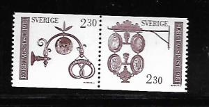 SWEDEN 1385A MNH PAIR BAKERS SIGN