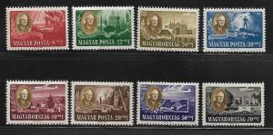 HUNGARY  B198A-198D, CB1-CB1C FDR, ROOSEVELT SET OF 8, 1947