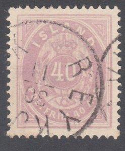 ICELAND 1886 40 ore fine used SG23a.........................................F686