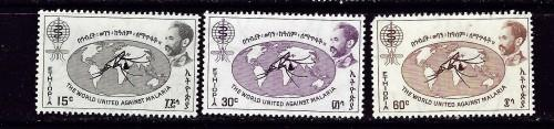 Ethiopia 383-85 NH 1962 set shortened corner perf