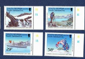 SOUTH GEORGIA   - # 139-142 - VFMNH - Expedition - 1989