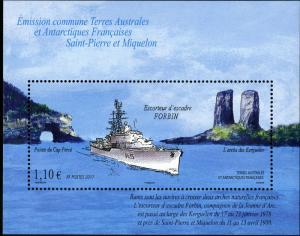 FRENCH SOUTH ANTARCTIC TERR 449 MNH S/S SCV $3.00 BIN $2.00 SHIPS