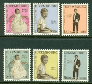 Luxembourg #B222-B227  Mint VF  NH  Scott $9.70  Royalty