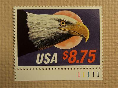 USPS $8.75 USA Express Mail Eagle Moon 1988 Mint NH Stamp...