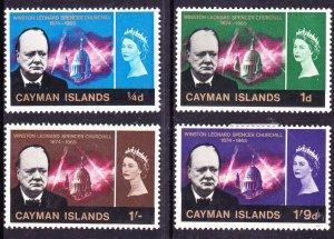 CAYMAN ISLANDS 1966 QEII Churchill Set SG170-173 MH