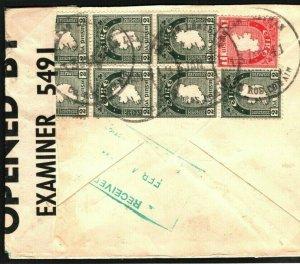 EIRE WW2 IRELAND Roscommon *Garranlahan* CENSOR Airmail Cover USA 1941 J273