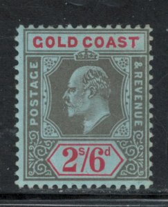 Gold Coast 1911 King Edward VII 2sh 6p Scott # 64 MH