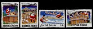 Norfolk Island 491-4 MNH Christmas, Santa, Post Office