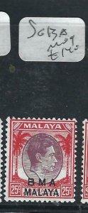 MALAYA BMA  (P2206B)  KGVI 25C  SG  13A     MOG