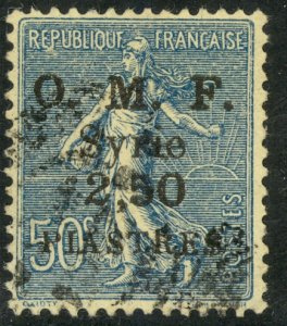 SYRIA 1920-22 2.50pi on 50c Sower Issue Sc 42 VFU
