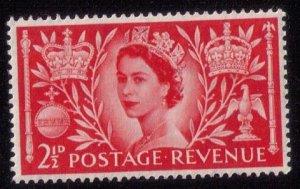 Great Britain Sc #313 MNH 2-1/2P SCARLET F-VF