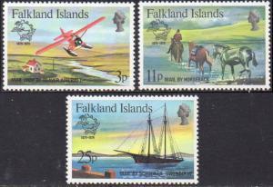 Falkland Islands MNH 295-7 Centenary Of UPU 1979