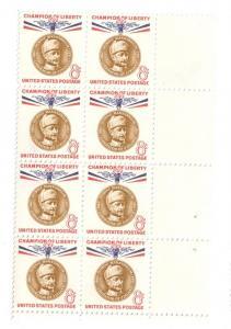 US SC# 1166 Block of 8 8c Mannerheim Champion of Liberty MNH