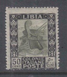 LIBYA, 1921 50c. Black & Olive, lhm..