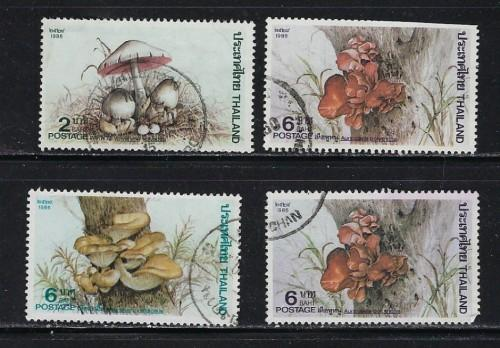 Thailand 1161-64 Used 1986 set one short perf