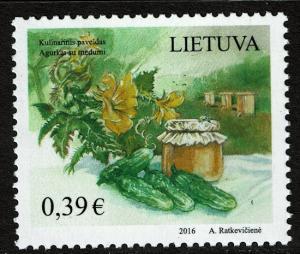 Lithuania #1080 MNH - Food Cucumbers (2016)