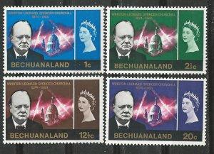 Bechuanaland # 206-09  Churchill Memorial  (4) Mint NH
