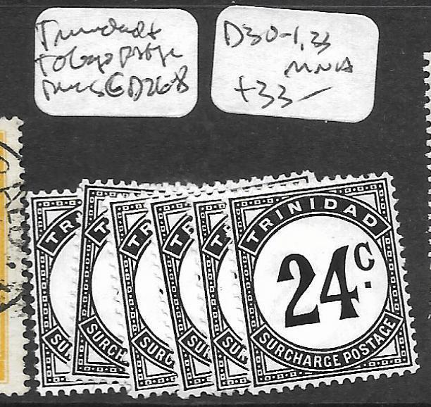 TRINIDAD AND TOBAGO (P1109B) POSTAGE DUE SG D26-8, 30-1, 33  MNH