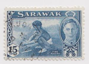 Sarawak -Scott 188 - KGVI Definitives - 1950 - VFU - Single 15c Stamp