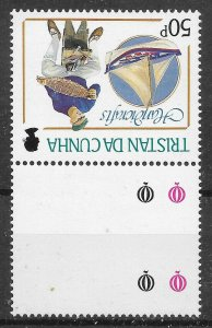 TRISTAN DA CUNHA SG451w 1988 HANDICRAFTS 50p INV WMK MNH