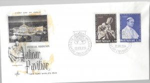 Vatican, 383-84, Vatican Pavilion NY World Fair ArrCraft First Day Cover, Used