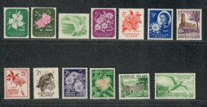 Norfolk Island Sc#29-41 M/NH/VF, Cv. $54