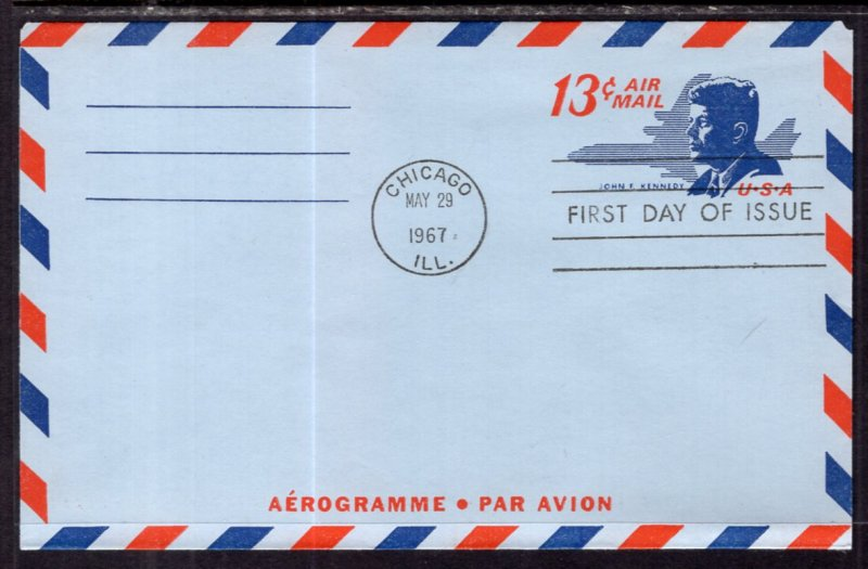 US UC39 John F Kennedy Postal Stationary U/A FDC