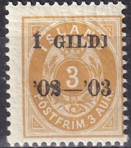 Iceland #50  F-VF Unused   (SU8218)
