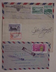 ECUADOR  IMPERF on 4 DIFF. COVERS 1954-1968
