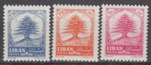 Lebanon #407-9 MNH VF CV $4.85 (ST1698)