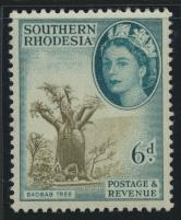 Southern Rhodesia  SG 84  Mint Light Hinge SC# 87  Baobab Tree