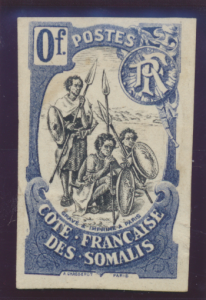 Somali Coast (Djibouti) Stamp 1902 Proof/Essay/Label, Unused No Gum - Free U....