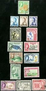 Fiji Stamps # 147-62 Used XF