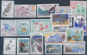 St. Pierre and Miquelon stamp 1991-1994 18 diff stamps MNH WS206302